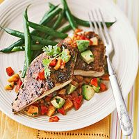 BHG's Newest Recipes:Blackened Chicken with Avocado Salsa Recipe