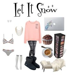 """Comfy lazy winter morning"" by rylock ❤ liked on Polyvore featuring MANGO, Charlotte Russe, Moschino, DaVonna, Mikimoto, Vinyl Revolution, Prepac, Polar Feet and plus size clothing"