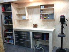 Garage Corner Workbench Google Searchsmall Ideas Home Workshop