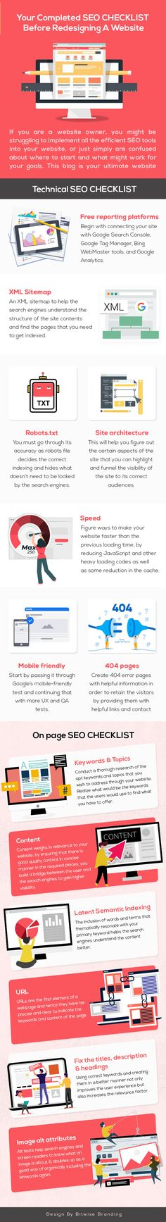 Complete SEO Checklist Before Redesigning a Website [Infographic] Online Marketing, Digital Marketing, Media Marketing, How To Become Smarter, Seo Guide, Seo For Beginners, Marketing Information, Business Website, Love You