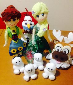 Bonecos de Feltro Frozen Fever by Babum Babum