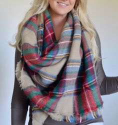 In Stock Plaid blanket scarf plaid scarves oversized multi color camel scarf by BrynNicholle on Etsy https://www.etsy.com/listing/203653150/in-stock-plaid-blanket-scarf-plaid
