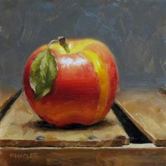 MICHAEL NAPLES: Yellow Stripe | still life painting