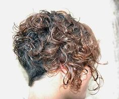 Curly Inverted Short Hairstyle