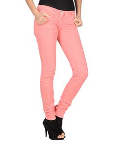 miss sixty sloane coral coloured jeans