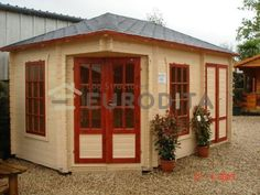 Buy quality log cabins, ready made by Eurodita. Cabin Kits ready to build up. From Standard to made to measure log cabins, camping pods, BBQ huts. Residential Log Cabins, Camping Pod, Are You The One, Construction, Outdoor Structures, Garden Sheds, Offices, Building