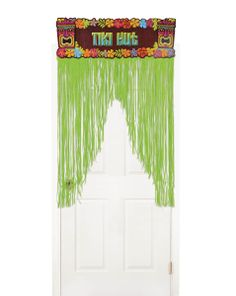 Totally Tiki Door Curtain   Wally's Party Factory #luau #tiki #doorcurtain #decor