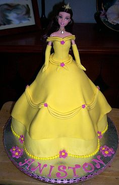 Princess Belle Cake Beauty and the Beast Birthday party