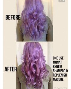 Bring out the color you paid for!!! Look at this amazing transformation with one use!! #monat #purplehair #onewash #amazing #coloredhair