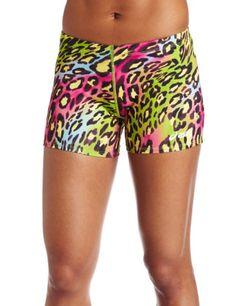 Spandex Rainbow Cheetah Short!