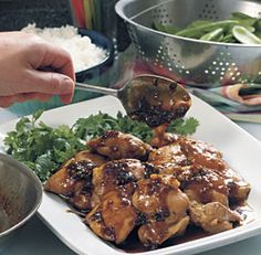 Sweet & Spicy Sticky Chicken -- easy and delicious