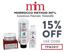 These products from Morrocco Method give me that little extra boost to my routine that make me feel amazing for videos, interviews and appearances. Right now, get all three of these products 15% off with code TPM2017!
