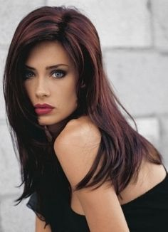 Dark hair with Red Highlights, I love this Hair Colour