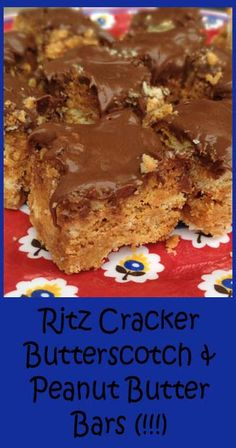 Ritz Cracker, Butterscotch, & Peanut Butter Bars (with marshmallow whip) ! Easy and Delicious-for christmas cookie boxes? Cookie Desserts, Just Desserts, Cookie Recipes, Delicious Desserts, Dessert Recipes, Yummy Food, Eat Dessert First, Dessert Bars, Cookies Et Biscuits