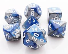 Gemini Dice Blue and Steel. Get your game on with Gemini Dice and save money. All RPG dice are on sale at Dark Elf Dice. Twin colors of blue and steel are perfect for roleplaying games. Dragon Blue, 3d Chalk Art, Painting Tattoo, Body Painting, Vampire Art, D&d Dungeons And Dragons, Dark Elf, Dnd Characters, Dark Fantasy Art