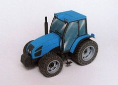 A Simple Tractor Free Free Vehicle Paper Model Download - http://www.papercraftsquare.com/a-simple-tractor-free-free-vehicle-paper-model-download.html#Tractor, #VehiclePaperModel