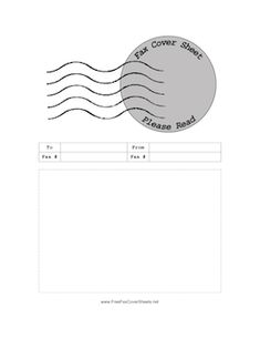 This Printable Fax Cover Sheet Also Serves As A Test For Your Fax