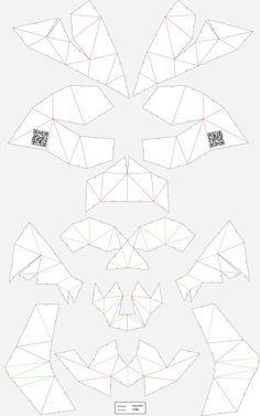 Unfold cardboard skull #skull #skullsforchange #folding_skull #paper_skull #DIY…