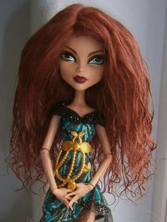 "Ravishing Auburn Tibetan Lambskin Mohair Wig for 5.5"" Monster High/Gene/ BJDs!"