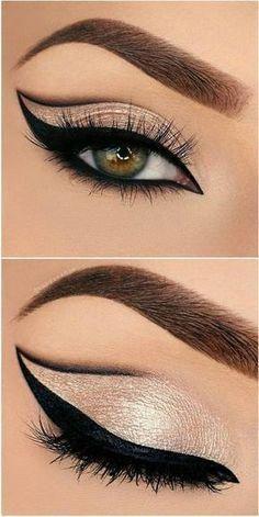 Eyeliner Models Beautiful eye make-up for impressive looks - . - Eyeliner Models Beautiful eye make-up for impressive looks – make up - Eye Makeup Tips, Makeup Hacks, Makeup Goals, Makeup Inspo, Makeup Inspiration, Hair Makeup, Makeup Ideas, Makeup Products, Makeup Tutorials