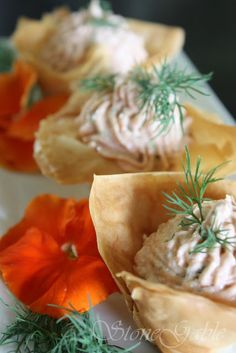 Salmon Mousse Stuffed Phyllo Cups