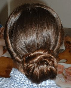 1860's ACW period correct hairstyle easily shown. **PHOTO TUTORIAL**.