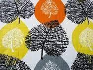 Image result for orange 50s fabric