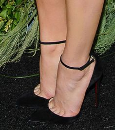 Chloe Moretz in Christian Louboutin 'Uptown' pumps