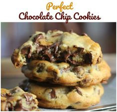 fullcravings: Perfect Chocolate Chip Cookies - January 25 2019 at - and Inspiration - Yummy Sweet Meals And Chocolates - Bakery Recipes Ideas - And Kitchen Motivation - Delicious Sweets - Comfort Foods - Fans Of Food Addiction - Decadent Lifestyle Choices Köstliche Desserts, Delicious Desserts, Dessert Recipes, Yummy Food, Baking Recipes, Cookie Recipes, Perfect Chocolate Chip Cookies, Ciabatta, Yummy Cookies