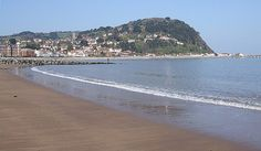 North Hill Minehead, ftom the beach.