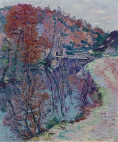 """""""Banks Of The Sedelle, Crozant,"""" Armand Guillaumin, 1905; View In High Resolution."""