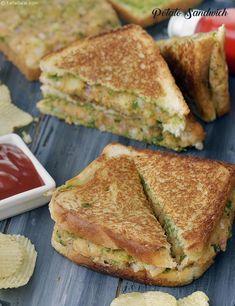 Potato Sandwich, Aloo Sandwich On A Tava, Indian Snack