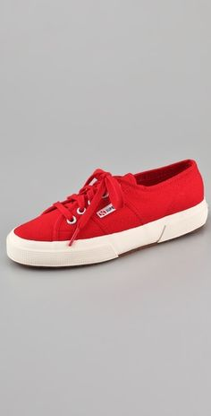 Wanted: cute flats. Superga sneakers in red or blue, from Australia. Everyone says order one size down.