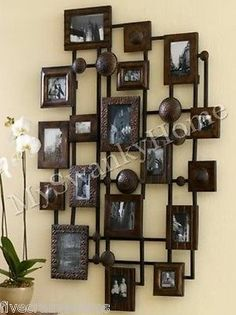 Extra Large Luxe Neiman Marcus Multi Photo Frame Xl Wall Multiple Collage Metal Traditional Frames