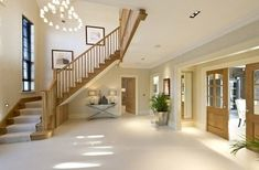 New contemporary lighting design stairways ideas Style At Home, Brazil Houses, Harewood House, House Entrance, Entrance Hall, Luxury Modern Homes, Village House Design, Contemporary Barn, Cedar Homes