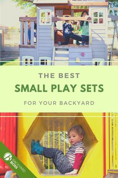 """If you have a small yard and a small budget, you can still get a little play set for your young kids or toddler.   In this guide we're not just showing you traditional swing sets with slides, we also profile some playhouses and """"playtime patios"""" that I've found my kids loved just as much as the """"normal"""" swings and slides-- which they can already do at the local playground."""