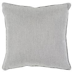 "Surya Laredo Outdoor Pillow 16"" x 16"" - Light Gray, Light Grey"