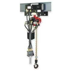 Hoist, Air Chain, 4400 Lb Cap, 10 Ft Lift by Ingersoll-Rand/Aro. $12690.15. Air Chain Hoist, Heavy Duty, Capacity 4400 Lb, Lift 10 Ft, Lift Speed 0 to 12 FPM, Min Between Hooks 18 In, Number Parts of Chain 1, Adjustable Band Type Brake, Overall Length 17 3/4 In, Overall Width 14 3/4 In, Inlet Size 1/2 In NPT, Air Pressure 90 PSI, Air Consumption 65 to 70 SCFM, Pendant Control, Rigid To Trolley Suspension, Air Powered Trolley, Fits Beam Flange W 3 1/4 to 6 In, Min Radiu...