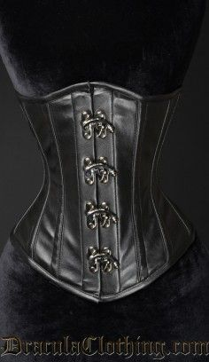 Faux Clasp Corset #corset #underbust #goth #gothic http://draculaclothing.com/index.php/faux-clasp-coset.html