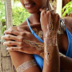 Metallic Henna Jewelry| Shop Giving Back-Sheebani | Flash Tattoos