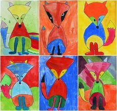 http://artwithmrhall.blogspot.com/2014/11/fantastic-fauvist-foxes.html