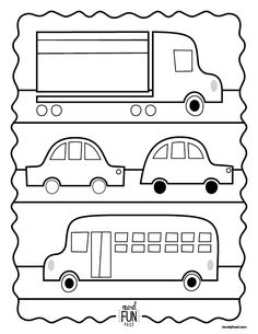 Nod Free Printable Coloring Page - Cars, Trucks & Buses! via Honesttonod.com