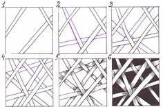 Дудлинг: прямые линии. ▷ Дудлинг для начинающих поэтапно - Risovat-Prosto.Ru