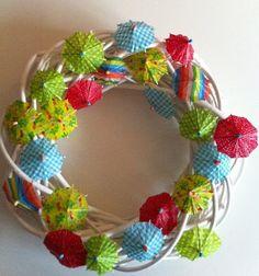 Saskia's Colorful & Cheerful Umbrella Wreath Created by ~*~Saskia~*~