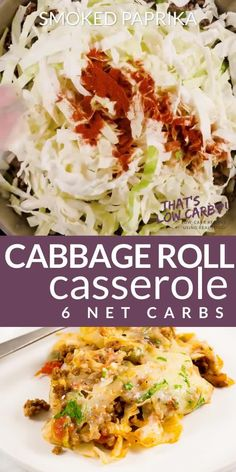 Cabbage Roll Casserole – Unstuffed Cabbage Rolls – That's Low Carb! Cabbage Roll Casserole is Keto friendly and low-carb solution to your cabbage roll cravings. Simple, easy and delicious. This is sure to become a family favorite. Low Carb Chicken Recipes, Healthy Low Carb Recipes, Ketogenic Recipes, Beef Recipes, Cooking Recipes, Ketogenic Diet, Cabbage Low Carb Recipes, Low Carb Food, Recipes