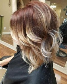 Top 34 Short Ombre Hair Ideas of Frisuren, Red to Blonde Ombre Ombre Blond, Short Ombre, Red To Blonde, Brown Ombre Hair, Balayage Hair Blonde, Ombre Hair Color, Short Blonde, Blonde Highlights, Color Highlights