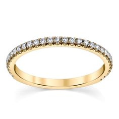 Suns And Roses 14K Yellow Gold Diamond Wedding Ring 1/4 Cttw.