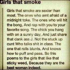 Girls who smoke poem :P love itt.