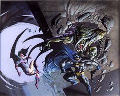 Batman vs. Predator II//Simon Bisley/B/ Comic Art Community GALLERY OF COMIC ART