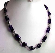 (SKU No.) 257ct Amethyst Beads Gemstone Necklace